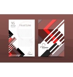 Design of annual report cover brochure vector image