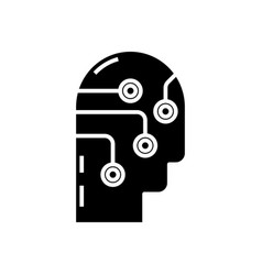 Different decisions black icon concept vector