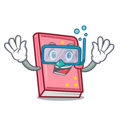 Diving diary character cartoon style vector