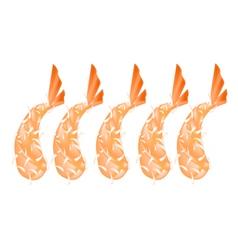 Ebi Tempura or Fried Shrimp on White Background vector