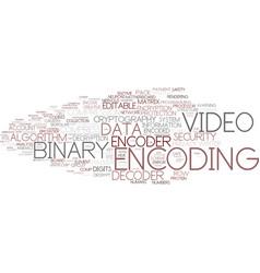 Encoding word cloud concept vector