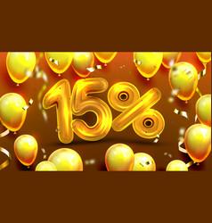 Fifteen percent or 15 marketing offer vector