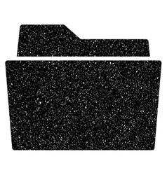 Folder Grainy Texture Icon vector