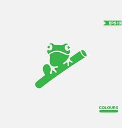 frog logo vector image