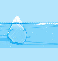 full iceberg in side view concept vector image