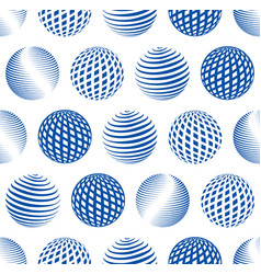 globe seamless pattern vector image