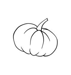 halloween doodle pumpkin element isolated vector image