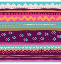 Hand drawn pattern with ethnic and tribal motifs vector image