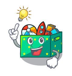 Have an idea children toy boxes isolated on mascot vector