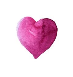Heart watercolor technique vector