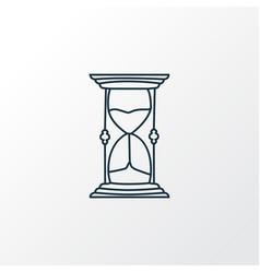 hourglass icon line symbol premium quality vector image
