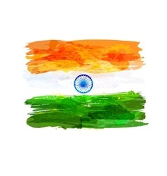 Indian watercolor flag vector
