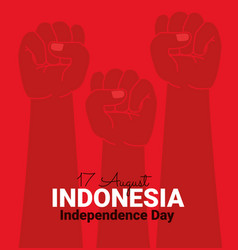 Indonesia independence vector