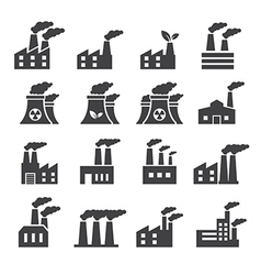 Industrial building icon vector image