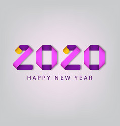inscription happy new year 2020 on white vector image