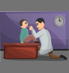 kid pediatrician concept banner cartoon style vector image
