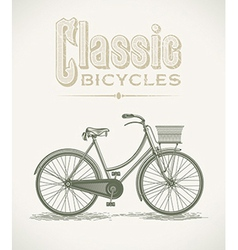 Ladys classic bicycle vector image