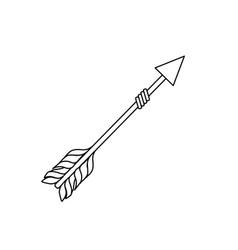 line rustic arrow with ornamental design vector image