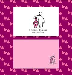 love care logo vector image