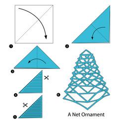 Make origami a net ornament vector