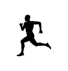 Man runner sprinter vector