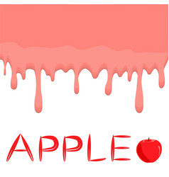 On theme falling runny apples drip at sugary cow vector