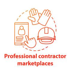 Online professional contractor marketplaces vector