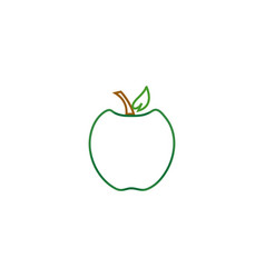 Outline fruit logo icon template vector