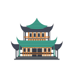 pagoda building asian architectural object vector image
