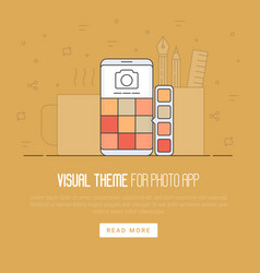 photo app development concept vector image