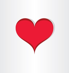 red heart valentine love icon design vector image