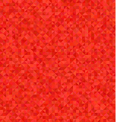 Red triangle mosaic pattern background design vector image