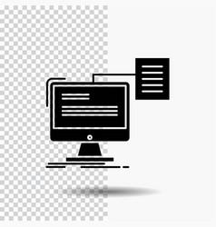 Resume storage print cv document glyph icon on vector