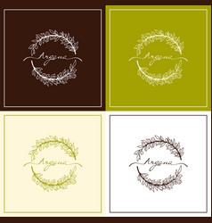 set of natural organic product vector image