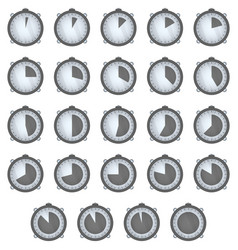set of timers icons on white background vector image