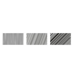 Set vertical and diagonal lines abstract vector