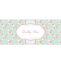 Shabby chic card design vector
