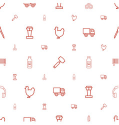 Silhouette icons pattern seamless white background vector
