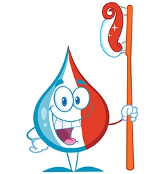 Smiling Tooth Paste Cartoon Mascot vector