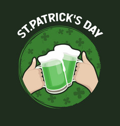 st patrick day happy friends celebrating vector image