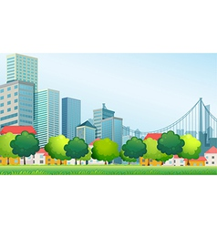 Tall buildings in the city vector