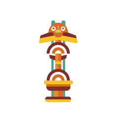 Tribal totem native religious cultural tribal vector