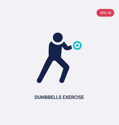 two color dumbbells exercise icon from gym and vector image