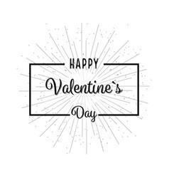 valentine day background flat design vector image