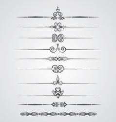 Vintage border lines vector image