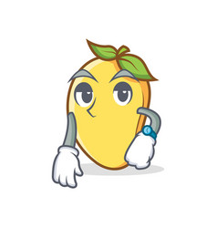 Waiting mango character cartoon mascot vector