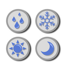 weather blue icon vector image