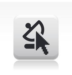 web antenna icon vector image