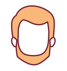 Wheat color silhouette of faceless man with short vector