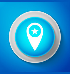 white map pointer with star icon isolated vector image